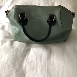 Kate Spade Mint Green Purse with Removable Strap